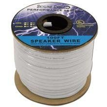 100ft 14 Gauge 4 Wire Speaker Cable, Paper Spool, Cl2 Ul