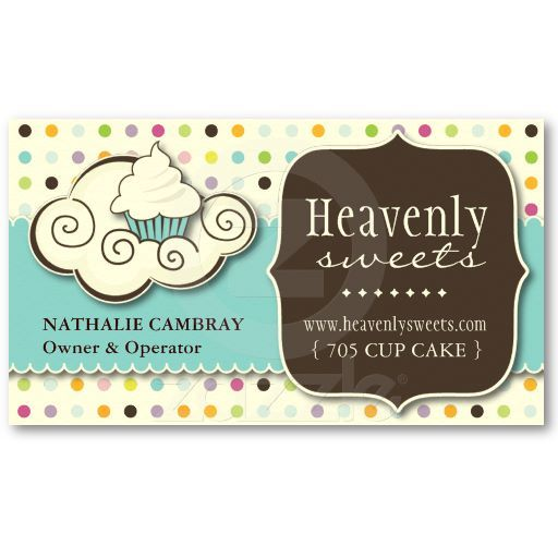 Fun and whimsical cupcake bakery business card similar brands fun and whimsical cupcake bakery business card wajeb Images