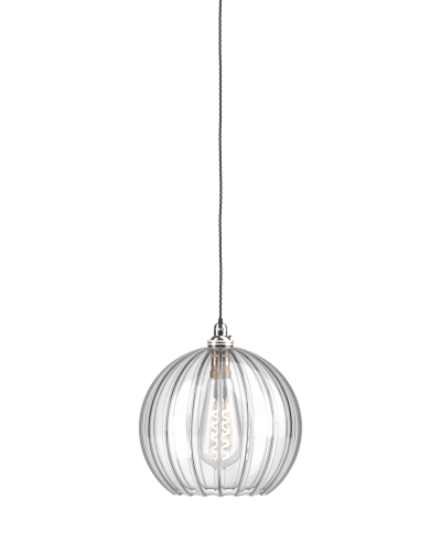 clear glass ribbed globe pendant ceiling light hereford retro rh pinterest com