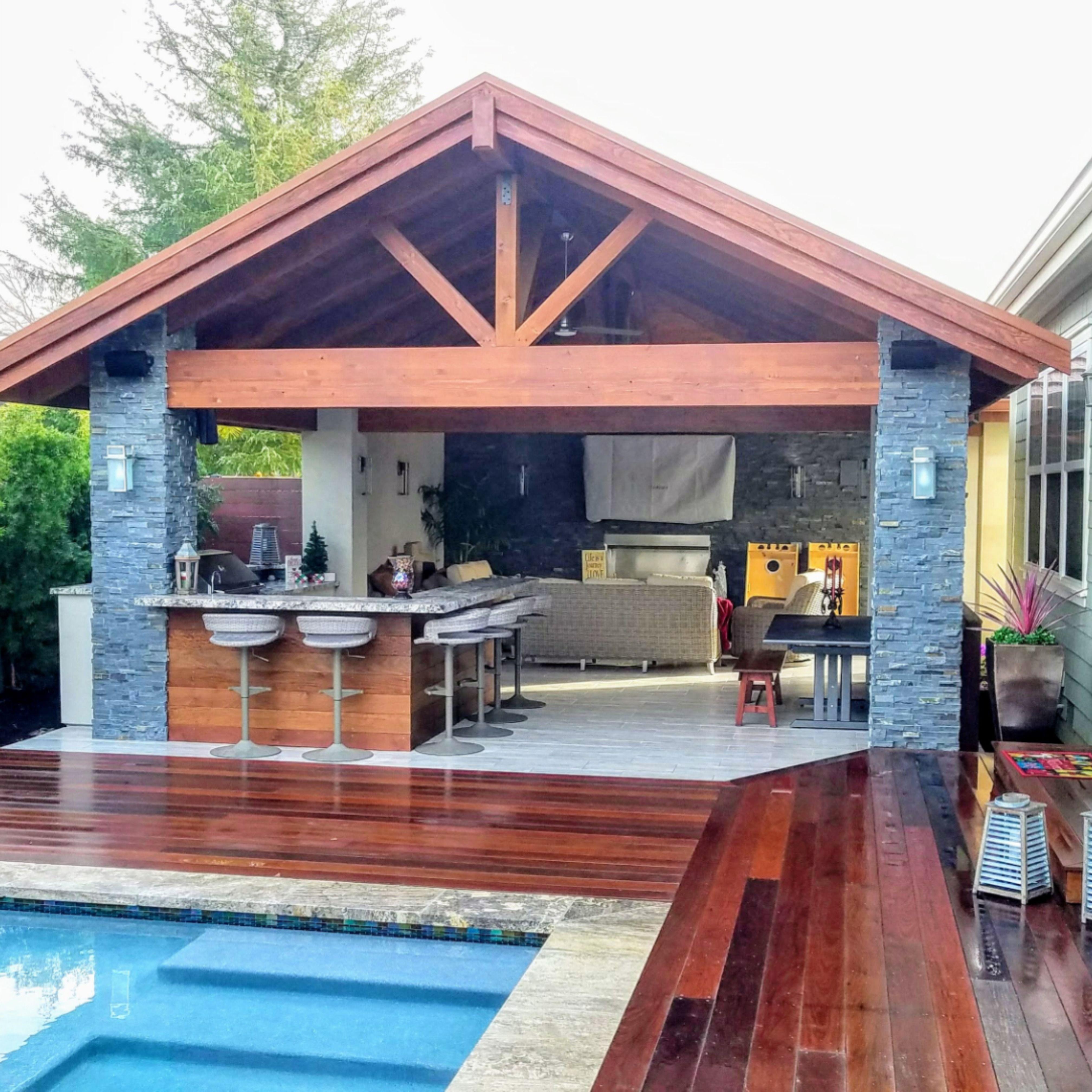 Beautiful Cabana in 11  Pool gazebo, Small backyard pools, Pool