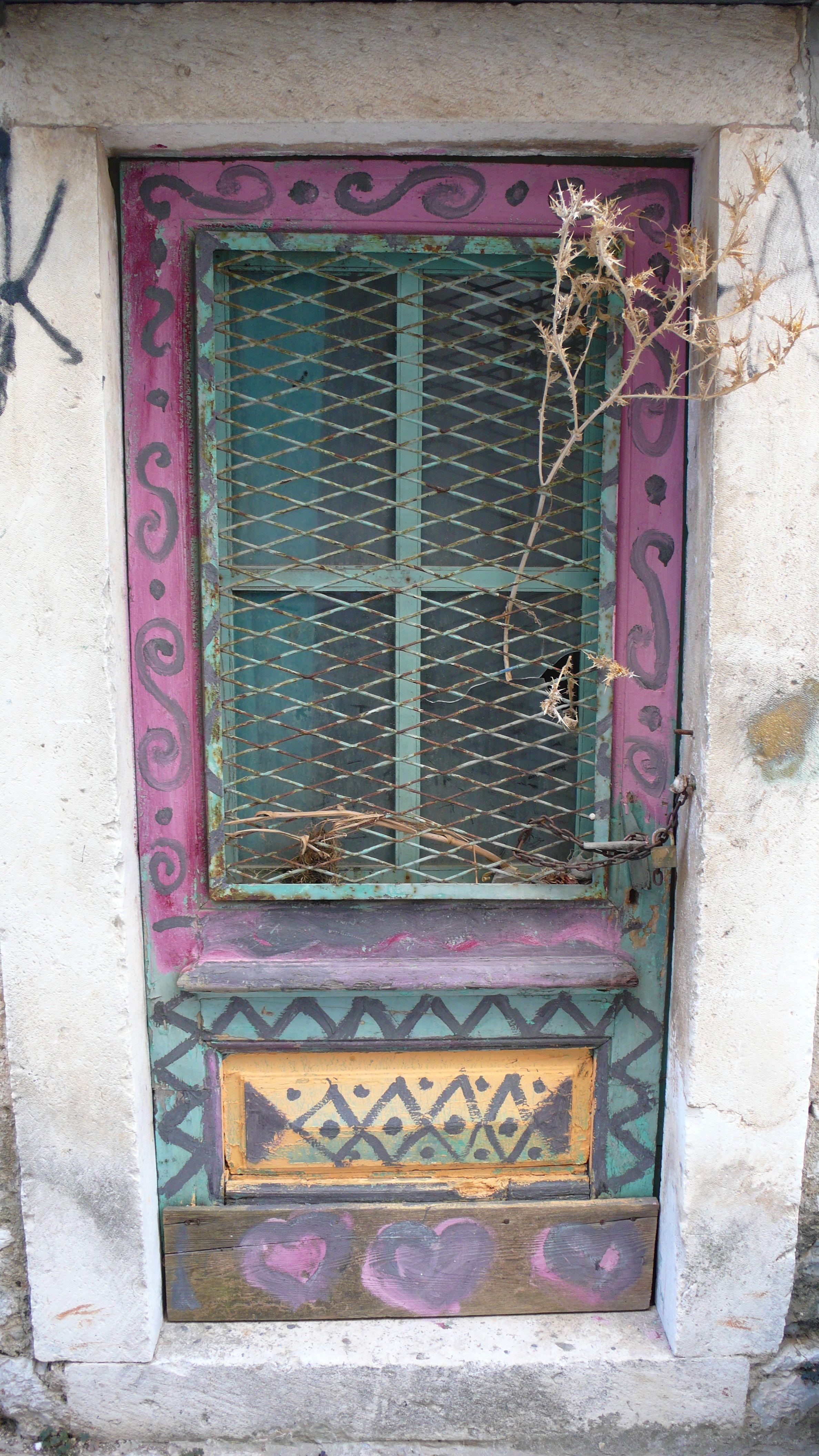 funky door & funky door | doorways of croatia and montenegro | Pinterest | Doors ...
