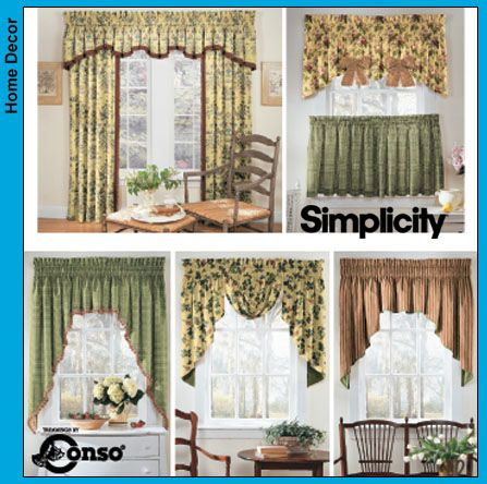 Simplicity Window Patterns Valance Patterns Curtain Sewing Pattern Modern Window Treatments