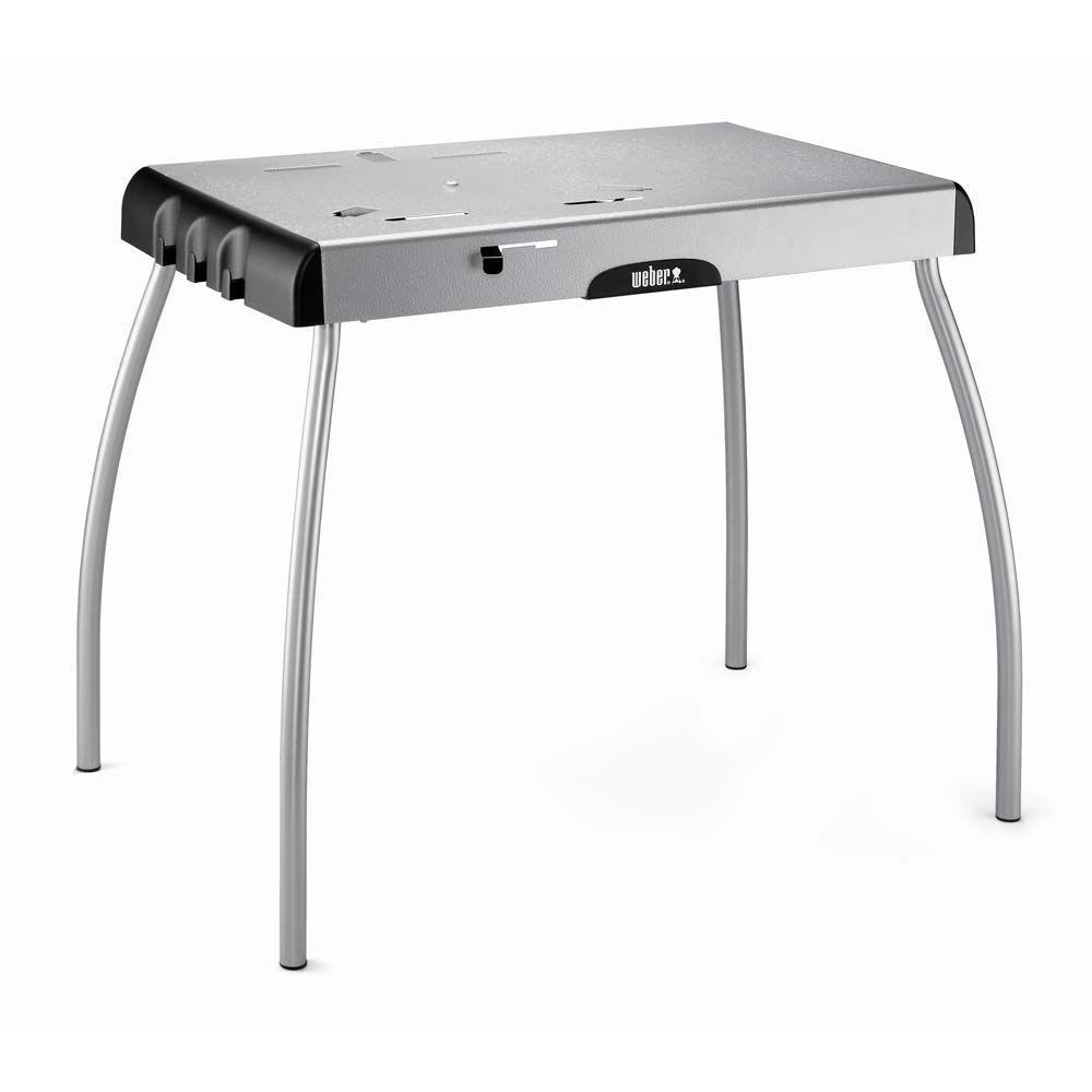 Weber Portable Table For Smokey Joe Silver Gold Charcoal Jumbo Joe Charcoal Go Anywhere Gas And Charcoal Grill Grill Table Grill Stand Weber Grill Table