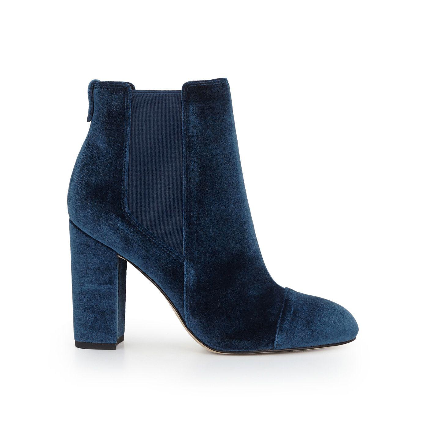 810638408 Case Ankle Bootie by Sam Edelman - Dark Blue Velvet - View 2