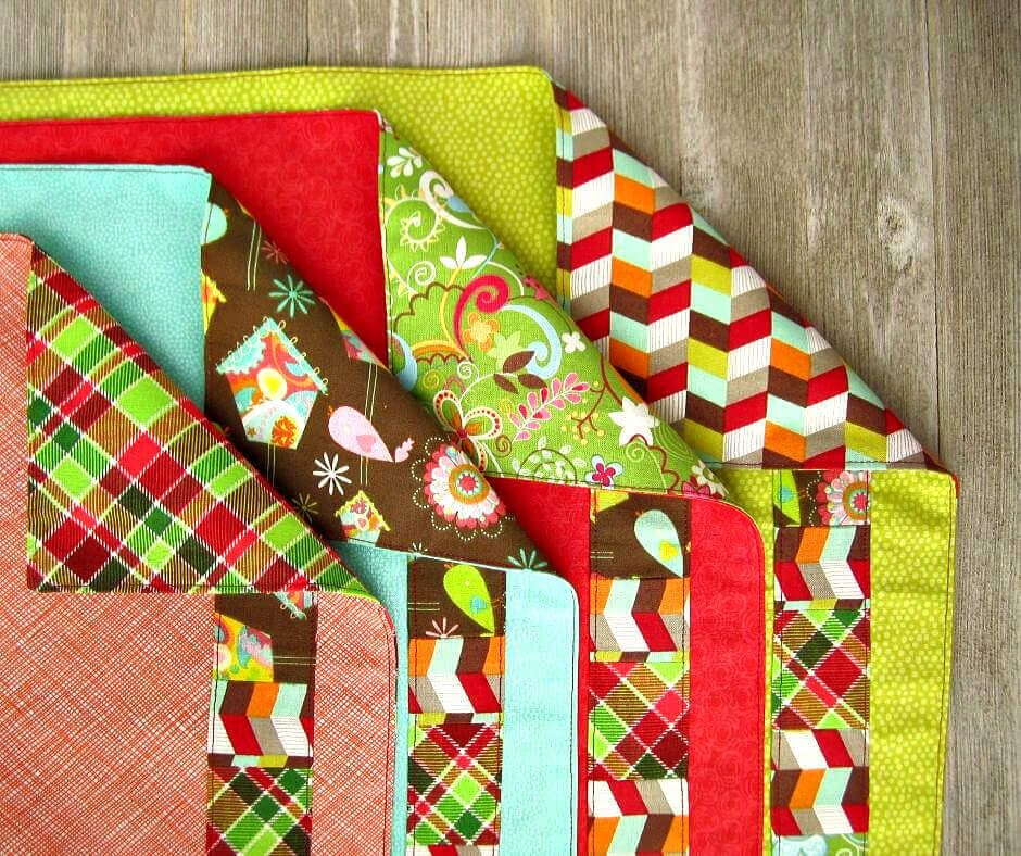 Easy Patchwork Cloth Napkins #clothnapkins