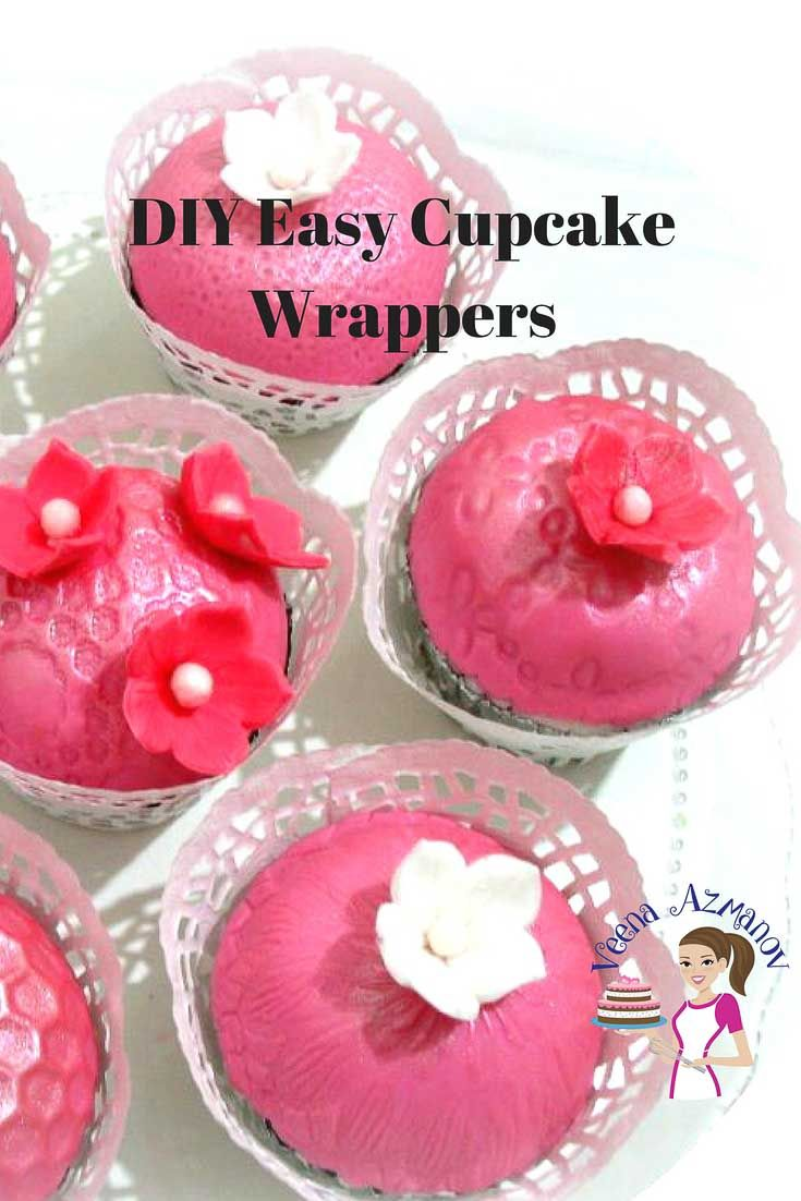 DIY easy cupcake wrappers is a great way to dress up simple cupcakes ...