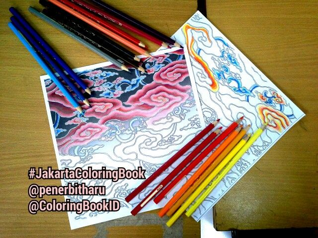 Betawi Jakarta Jakartaindonesia Indonesia Jkt Ilovejakarta Batik Batikindonesia Megamendung Indonesianbatik Adultcoloringbook Coloringbook