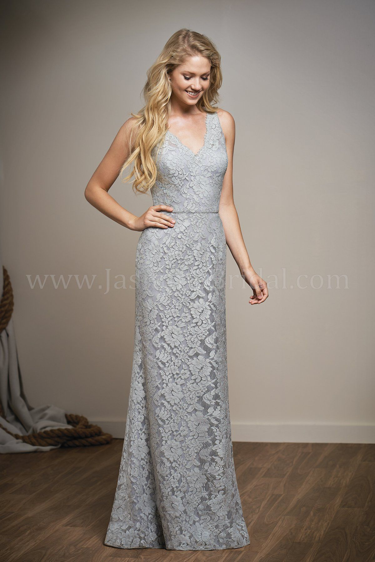 Jasmine bridal belsoie style l204008 in silver belsoie lace wedding dress ombrellifo Images