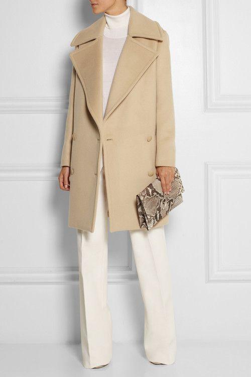 STELLA MCCARTNEY Fiamma double-breasted brushed-wool coat $2,195