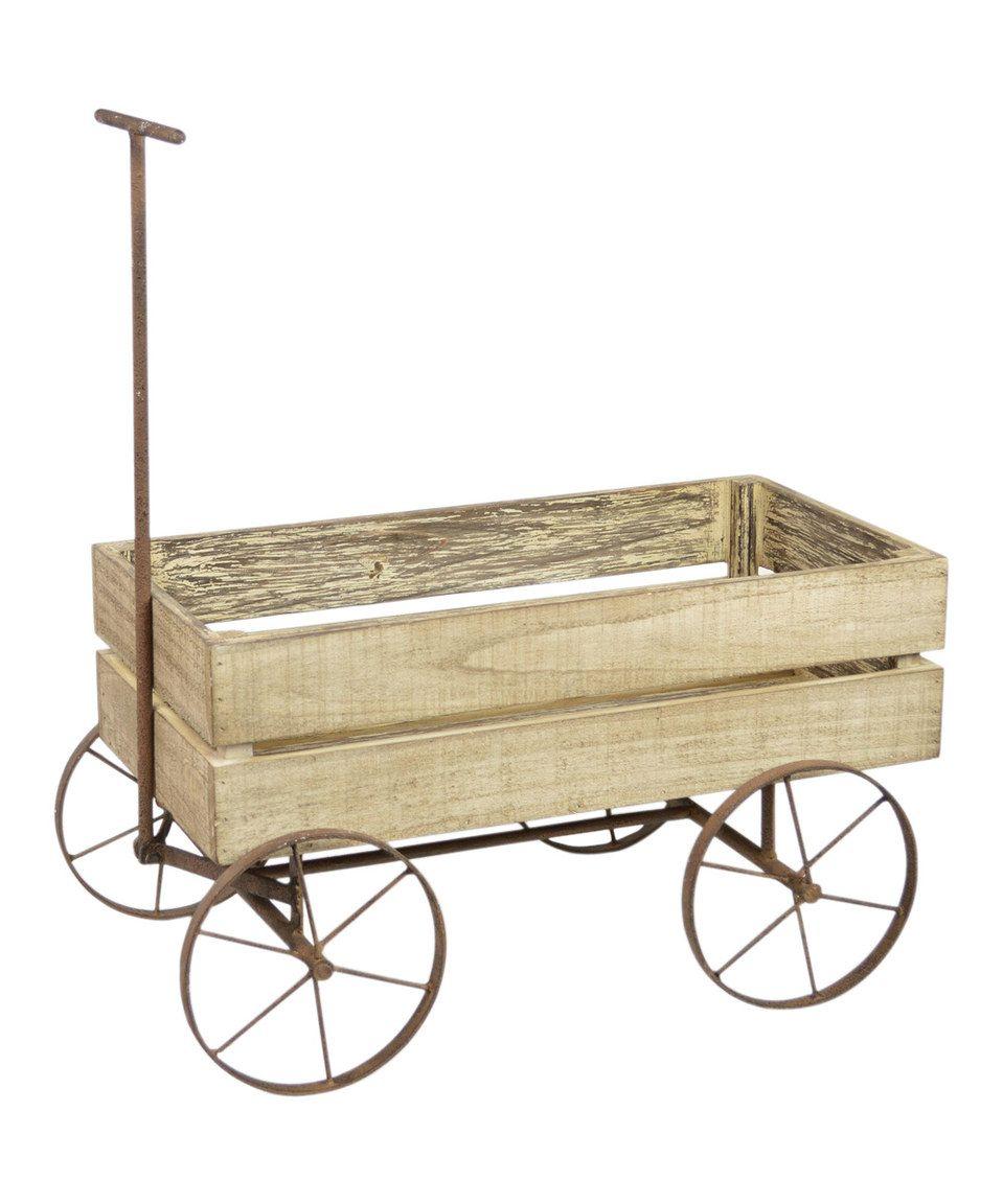 Look At This Zulilyfind Wooden Wagon By Zulilyfinds Wooden Wagon Wagon For Wedding Wagon