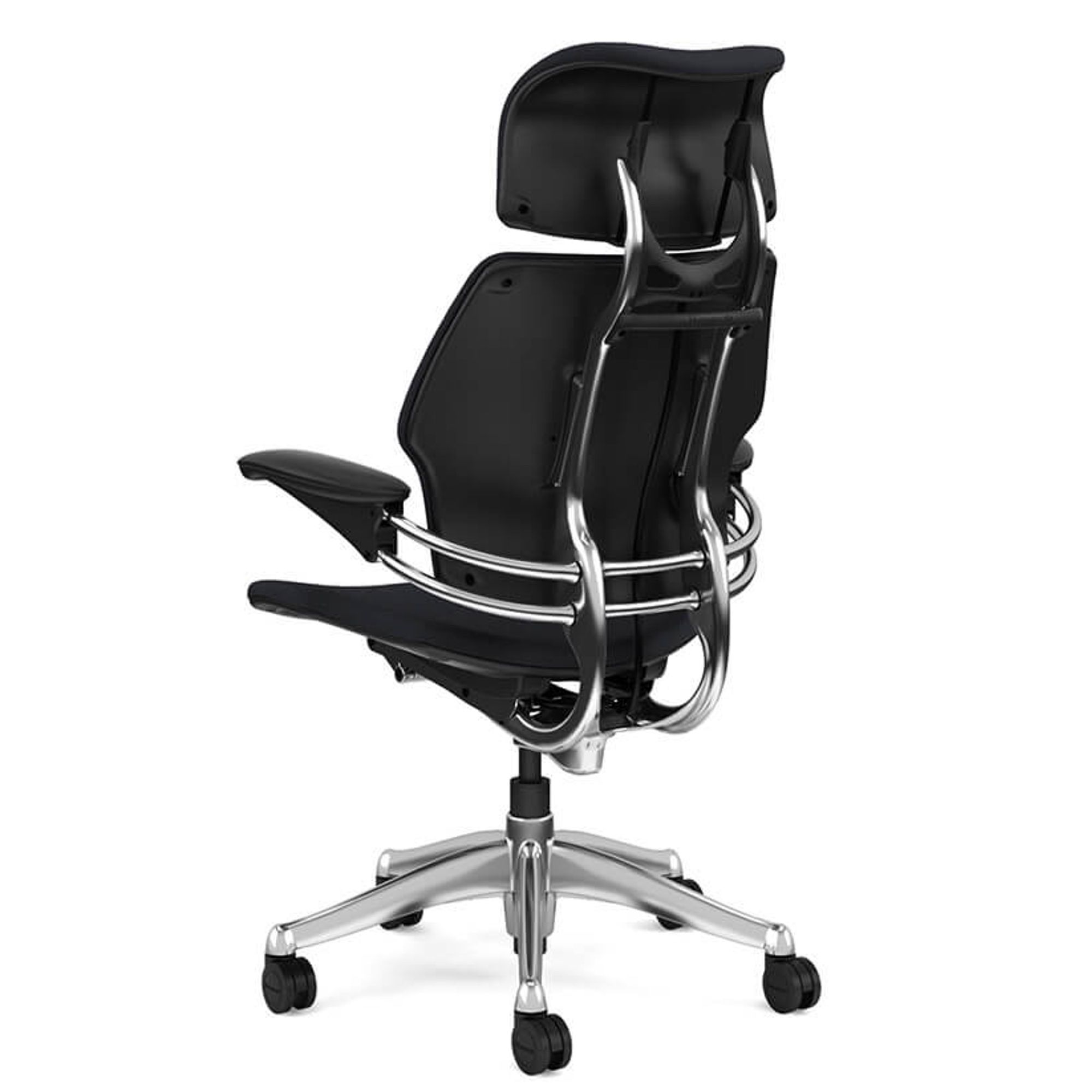 Cheff Sessel Humanscale Freedom Headrest Chefsessel In Leder Bison Chefsessel