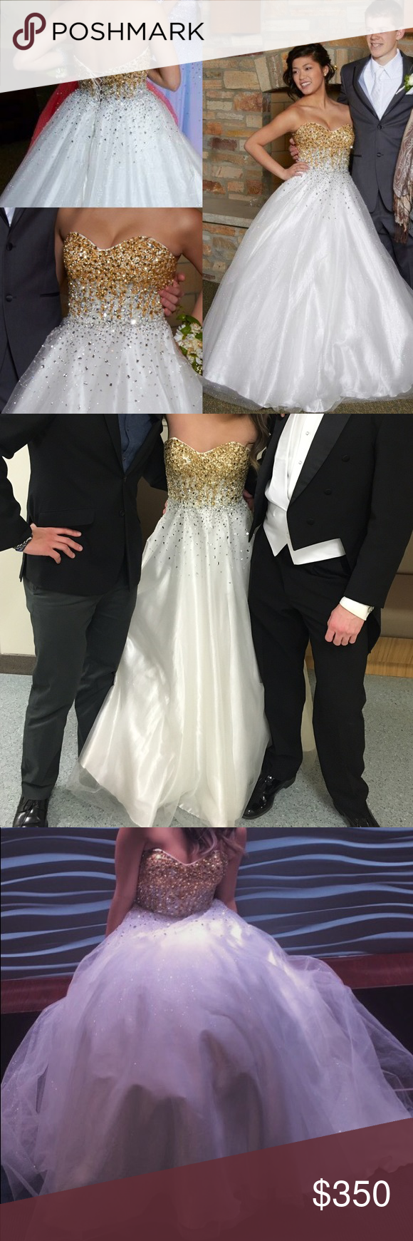 White and gold prom dress gold prom dresses ball gowns and dress prom