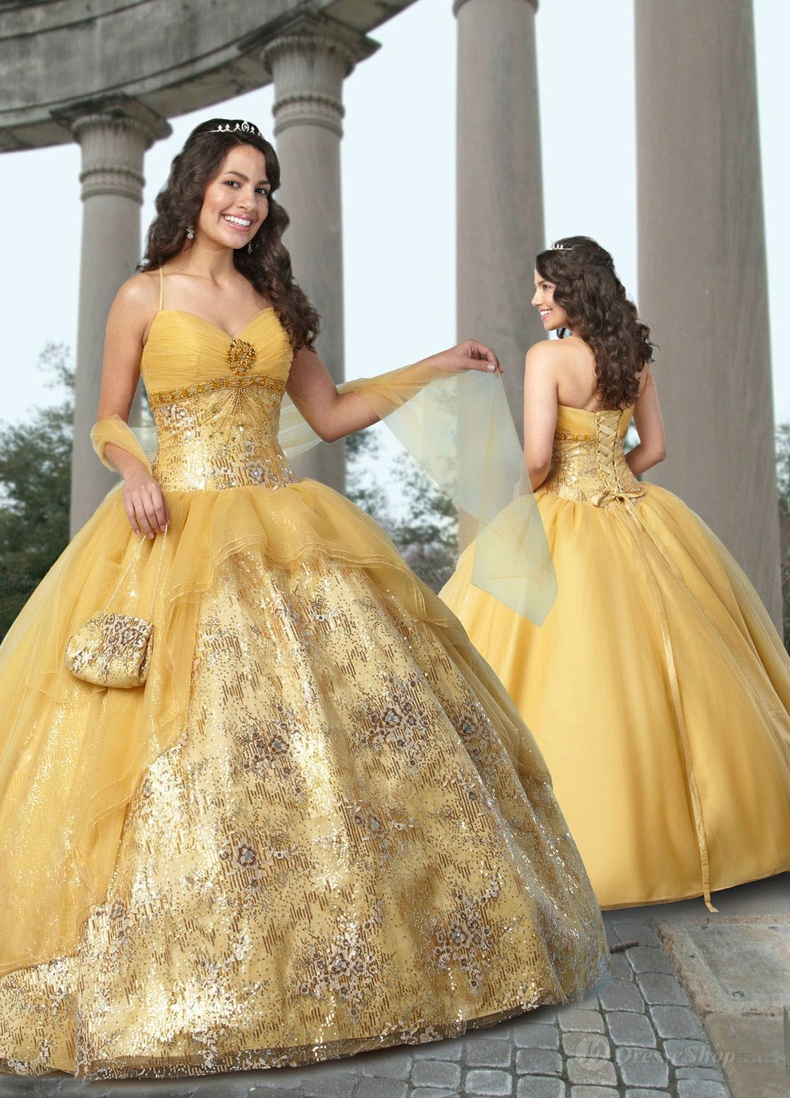 Yellow gown gowns autumn masquerade pinterest yellow gown