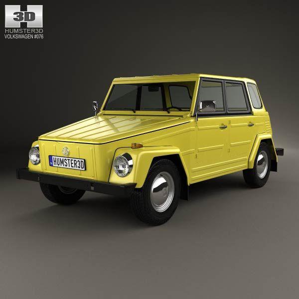3d Model Of Volkswagen Type 181 1973 Vw 181 Vw Safari Vw Porsche