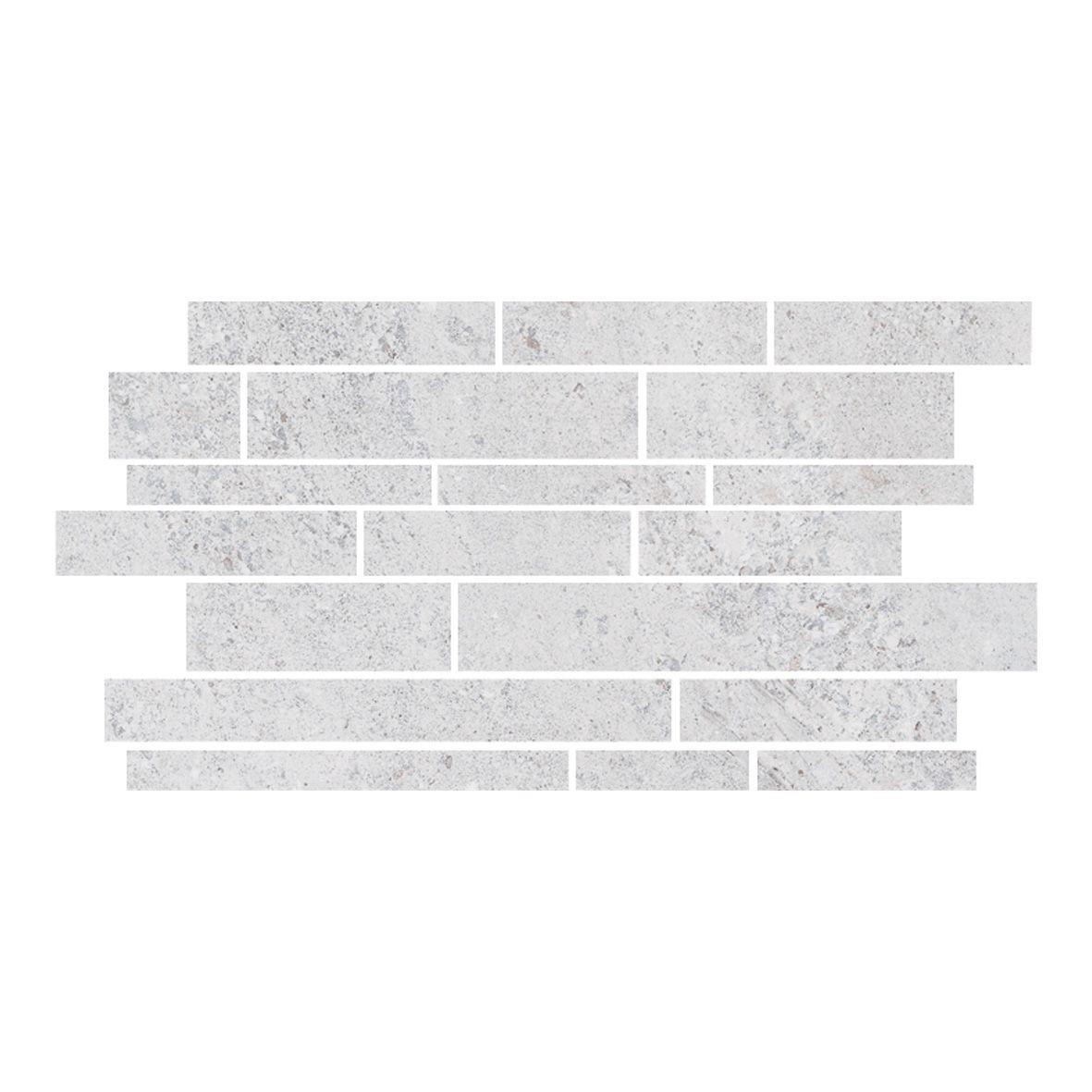 Gemini Hillock Light Grey Brick Mosaic Bathroom, Kitchen, Wetroom ...