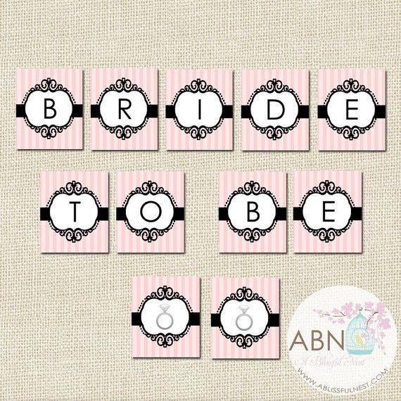 instant download bride to be banner printable banner by a blissful nest
