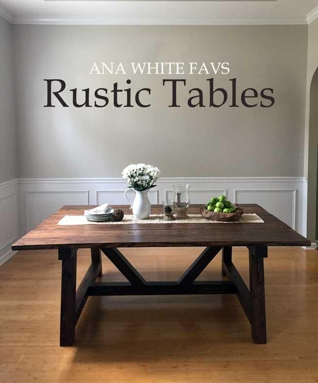 Favorite Rustic Dining Table Plans Ana White Woodworking Projects Wood Projects Bricolage Meuble Decoration