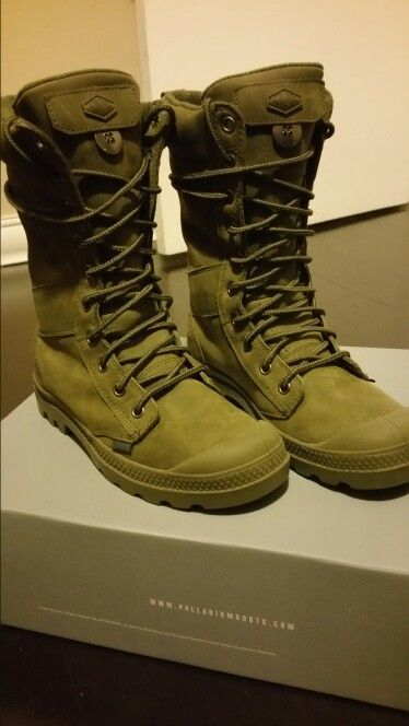 My new babies! Palladium Boots Olive Drab Blue Tactical Leather ... ae20c8981055