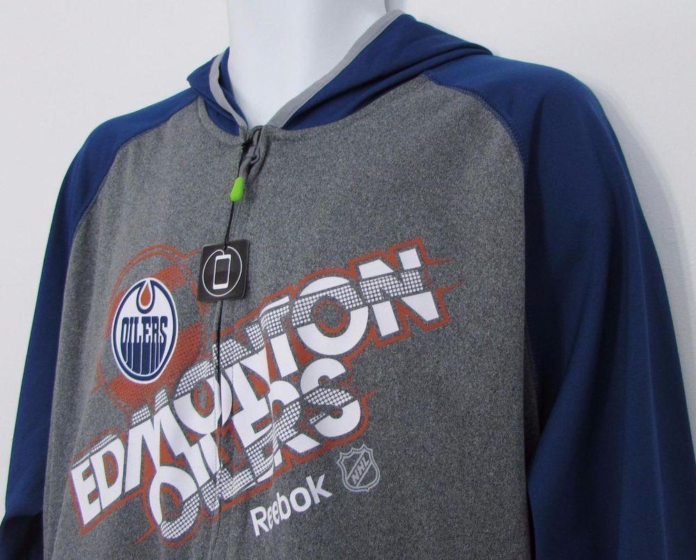 79e0447f4eba6 Men Edmonton Oilers Reebok Center Ice Play Dry Track Jacket Hooded sz XL  NWT NEW #Reebok #EdmontonOilers