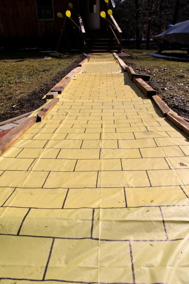Yellow Table Cloth With Sharpie Yellowbrick Road For Ahs Trunk Or