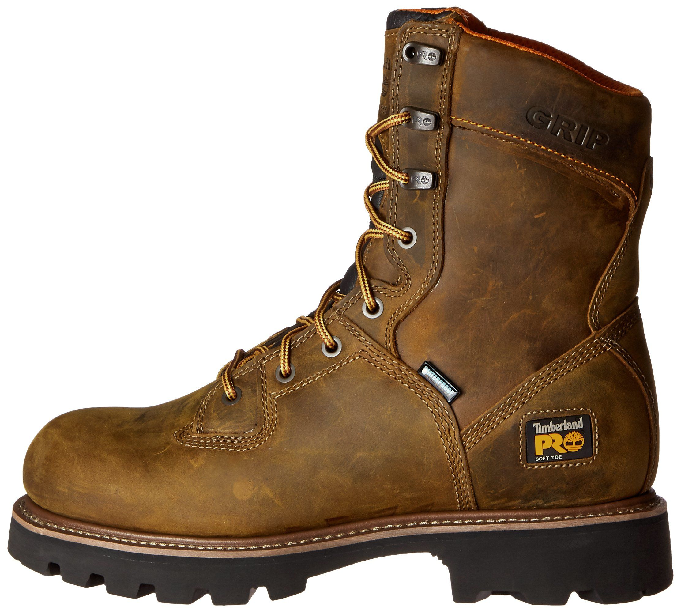 24614a907ca Timberland PRO Mens 8 Inch Crosscut Waterproof Soft Toe Logger Work ...