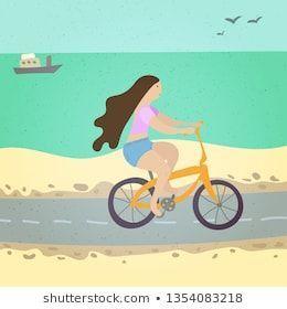 #activity,  #beach,  #beautiful,  #bicycle,  #bike,  #blue,  #cartoon,  #cycling,  #design,  #drawin...