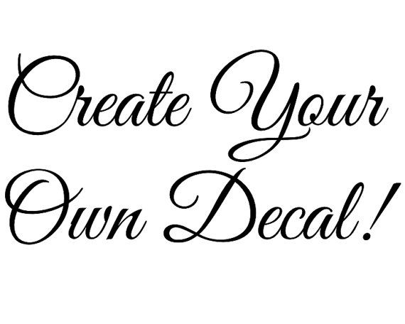 Vinyl wall decal create your own decal vinyl letters custom wall art bedroom sign living room
