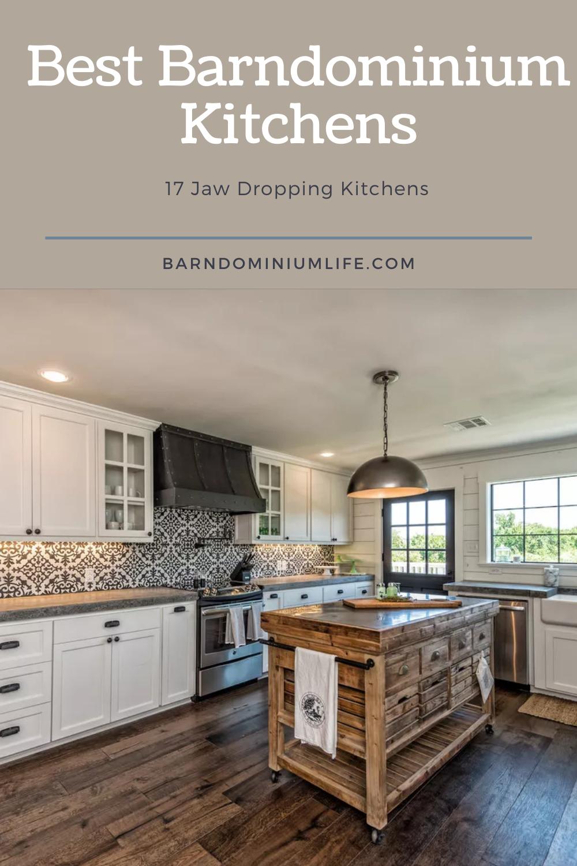 17 Jaw Dropping Barndominium Kitchens That Will Amaze You Barndominium Metal Backsplash Kitchen Tin Backsplash Kitchen