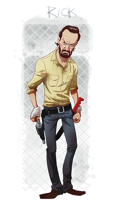Rick Grimes By Pungang On Deviantart More Caricatures Pinterest
