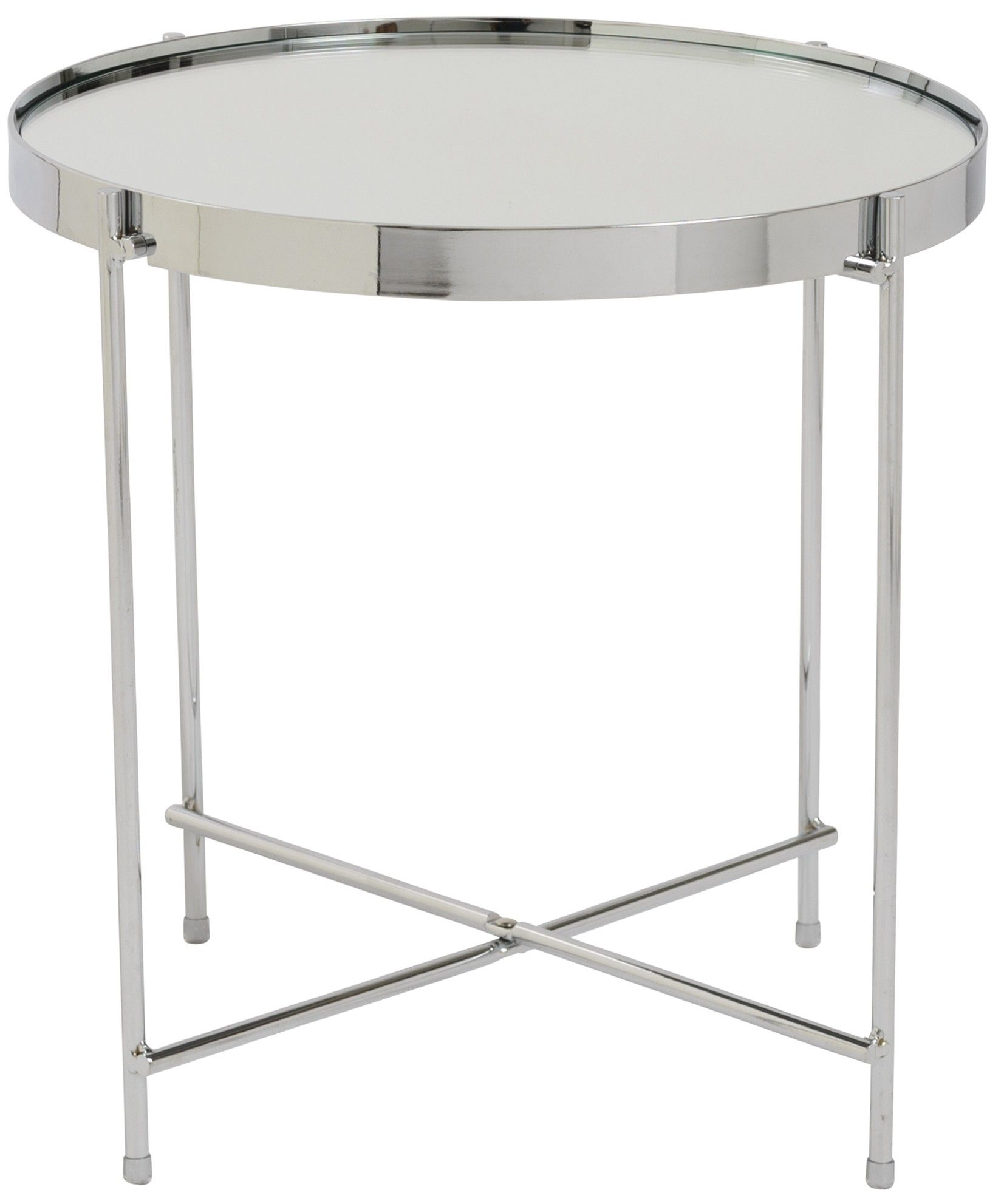 Theo Side Table Chrome Round Side Table