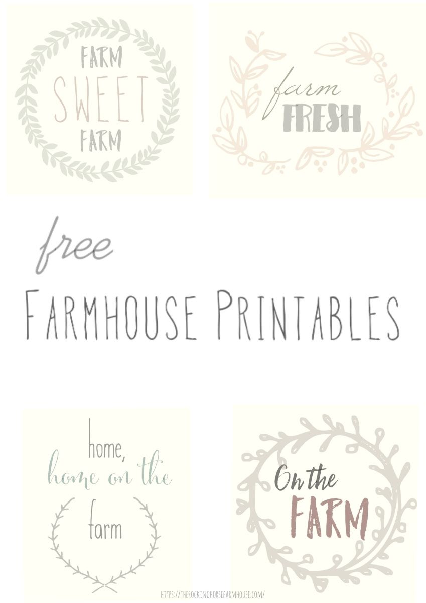Farmhouse Printables Farmhouse Printables Printables Printable Letters