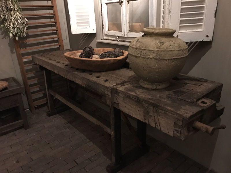 Stoere Werkbank Keuken : Prachtige antieke werkbank u keukenmatch