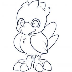 How To Draw A Chocobo Step By Step Video Game Characters Pop Culture Free Online Drawing Tutorial Added By Dawn Fe Drawings Guided Drawing Online Drawing