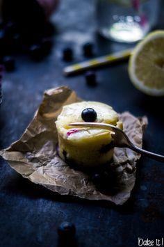 Zitronen Blaubeer Muffins