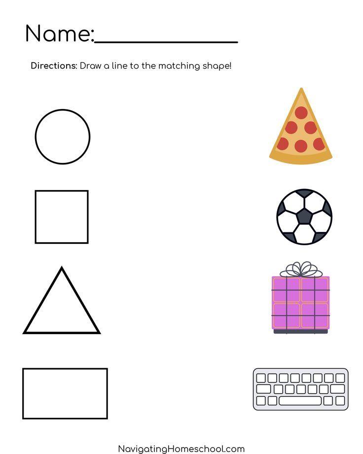 13++ Preschool worksheets for shapes Images