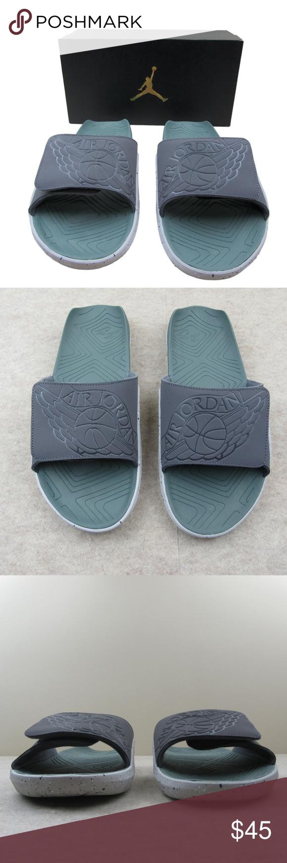 b14f30d64bda Jordan Hydro 7 Slides Sandals Size 13 Mens Jordan Hydro 7 Slides Sandals  Men s Dark Grey Clay Green Tech Style - AA2517 035 Men s Size 13 Brand New  in ...