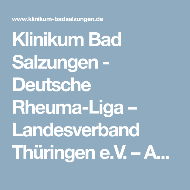 Deutsche RheumaLiga Landesverband Thüringen e.V. AG