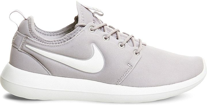 Nike Roshe Two mesh trainers in gray on Shopstyle.