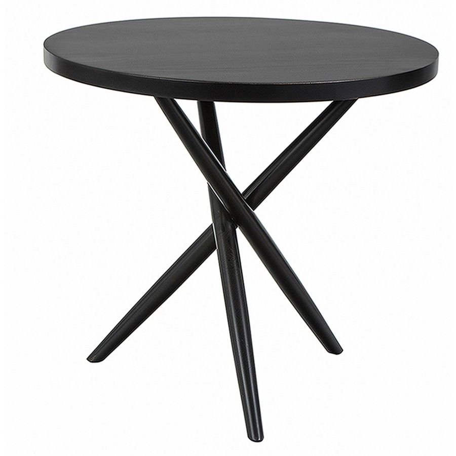 The Irwin Side Table From Redford House Furniture Is Made Of Solid Hardwood  With A Glossy Black Painted Finish. Available In 3 Sizes.