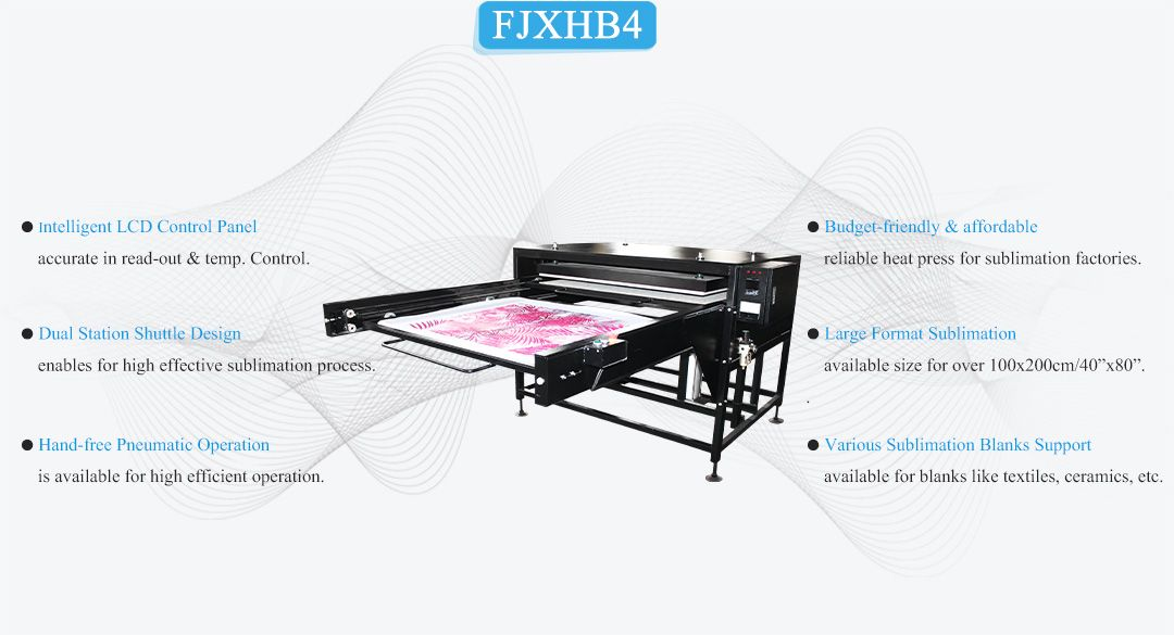 large size sublimation heat transfer machine