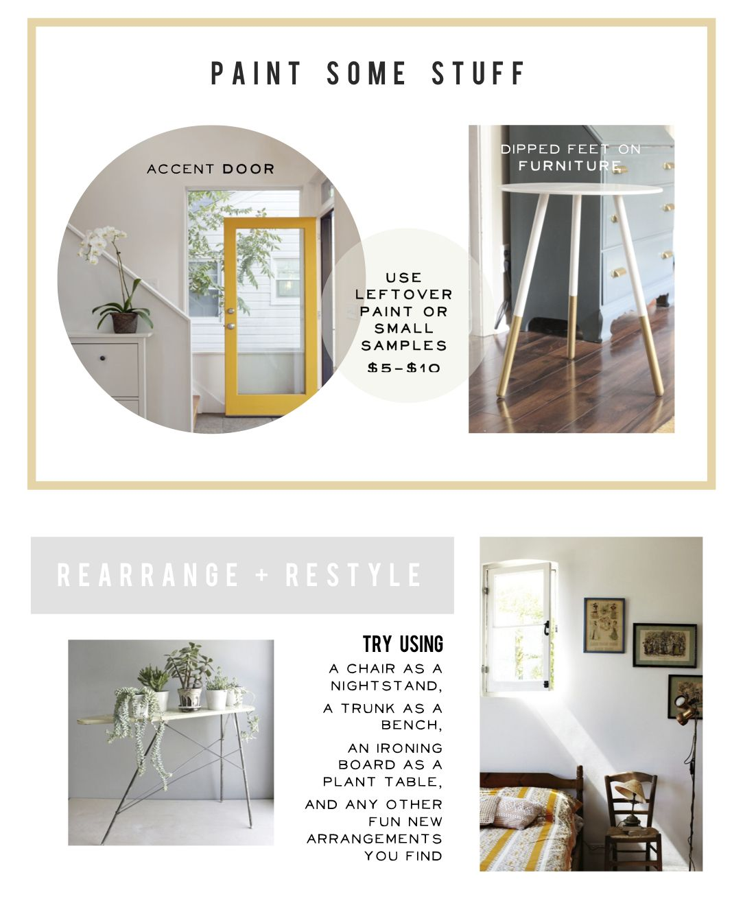 Cheap Home Makeover Ideas | Yellow accents, Apartment living and House