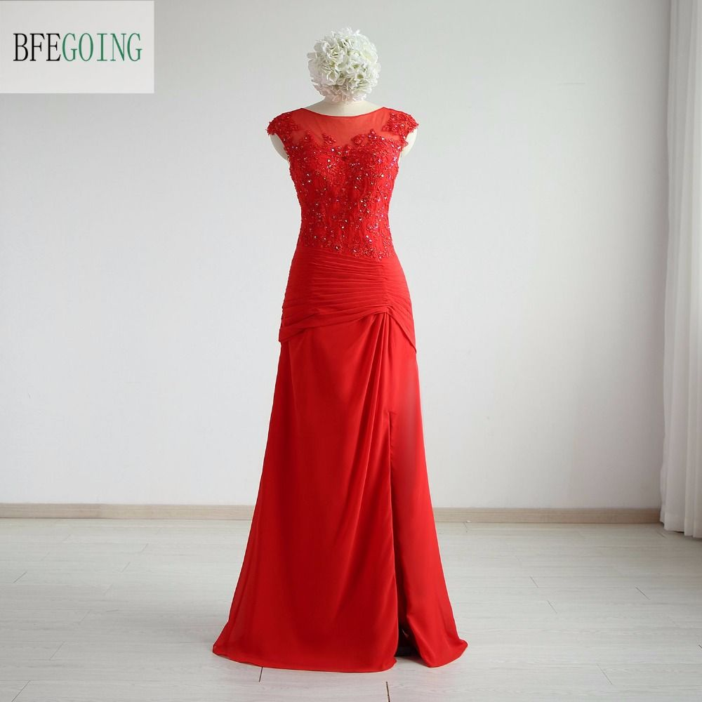 Click to Buy ucuc Red Ruby MermaidTrumpet Formal Evening Dress Floor