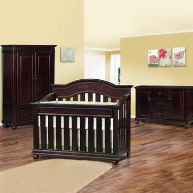 1800 Simplybabyfurniture Com Simmons 3 Piece Nursery Set Saratoga Convertible Crib Double Dresser Combo And Armoire In La B Baby Furniture Furniture Cribs