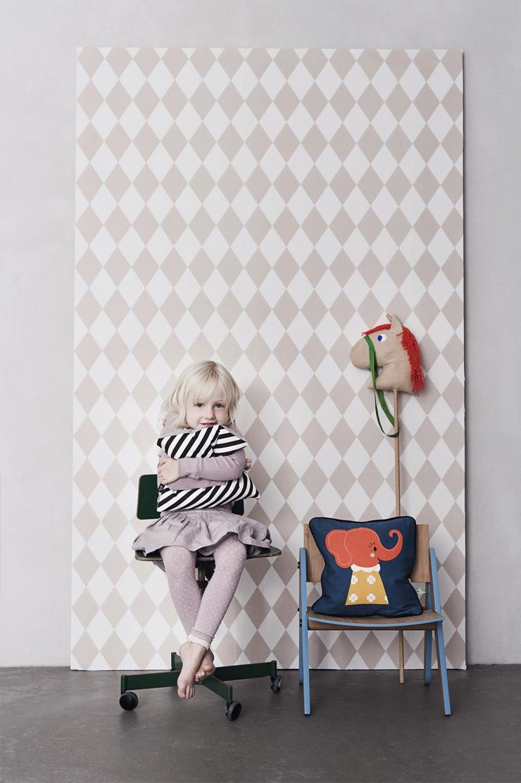 Papier Peint Harlequi Multicolore Enfant