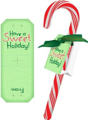 image relating to Printable Candy Cane identified as Free of charge Xmas Printables - sweet cane labels for youngsters in direction of