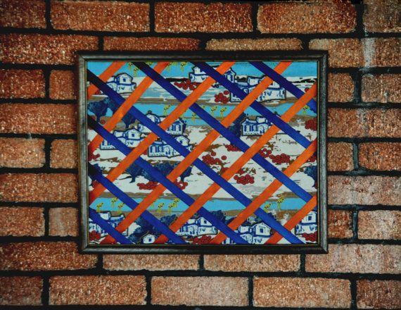 Mens Office Organizer Handmade textile print by MariposaTextiles, $40.00