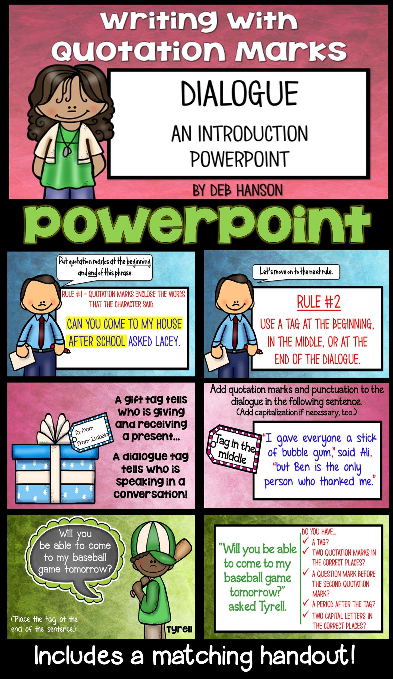 Writing Dialogue Powerpoint Writing Ideas And Projects Writing