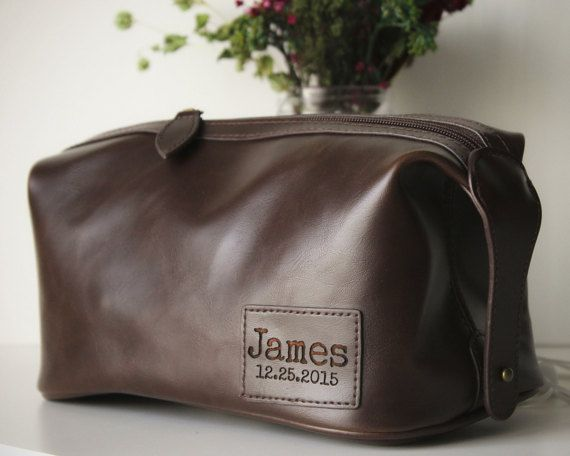 xl leather toiletry bag personalized gift for men boyfriend birthday