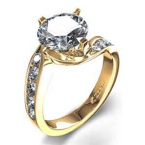 Elegant Yellow Gold Engagement Ring