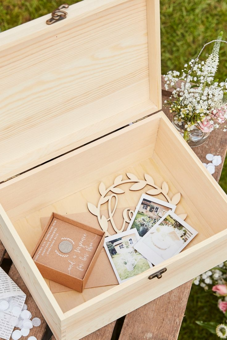 Houten Wedding Memories Box Rustic Country Memory Perfect And Mariage
